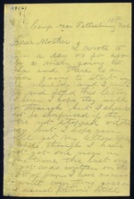Bailey, Cosmo O. to his Mother - Camp Near Petersburg, Va. - Feb. 18, 1865
