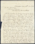 Mallory, Angela to President Andrew Johnson - Bridgeport, Conn. - Nov. 19, 1865