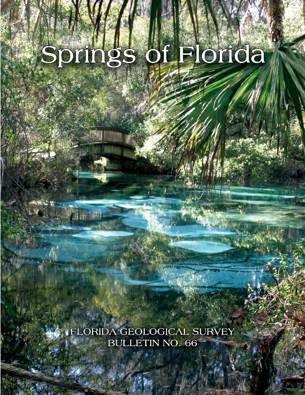 Springs of Florida (FGS : Bulletin 66) - Front cover 1