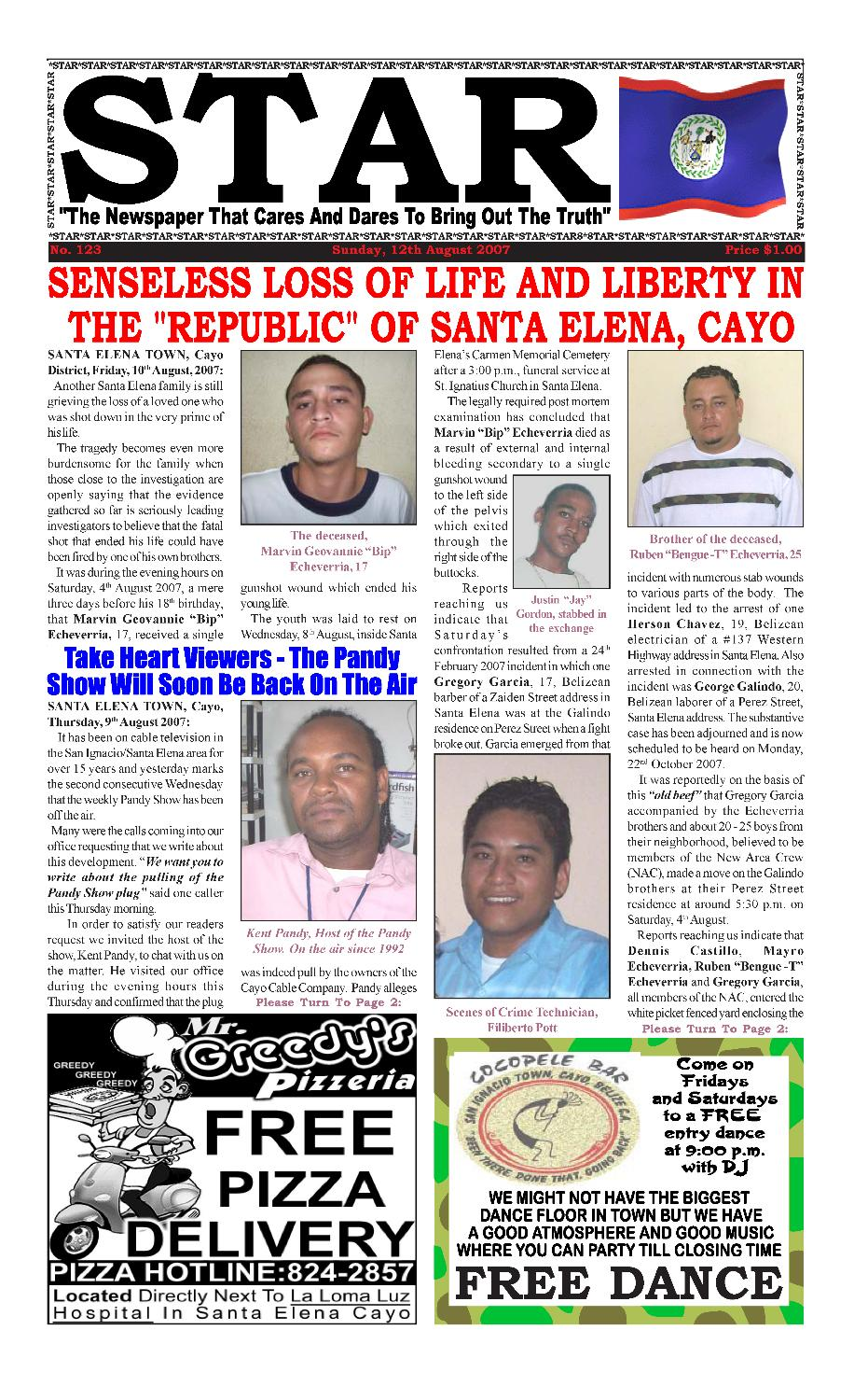 STAR Newspaper - page 1