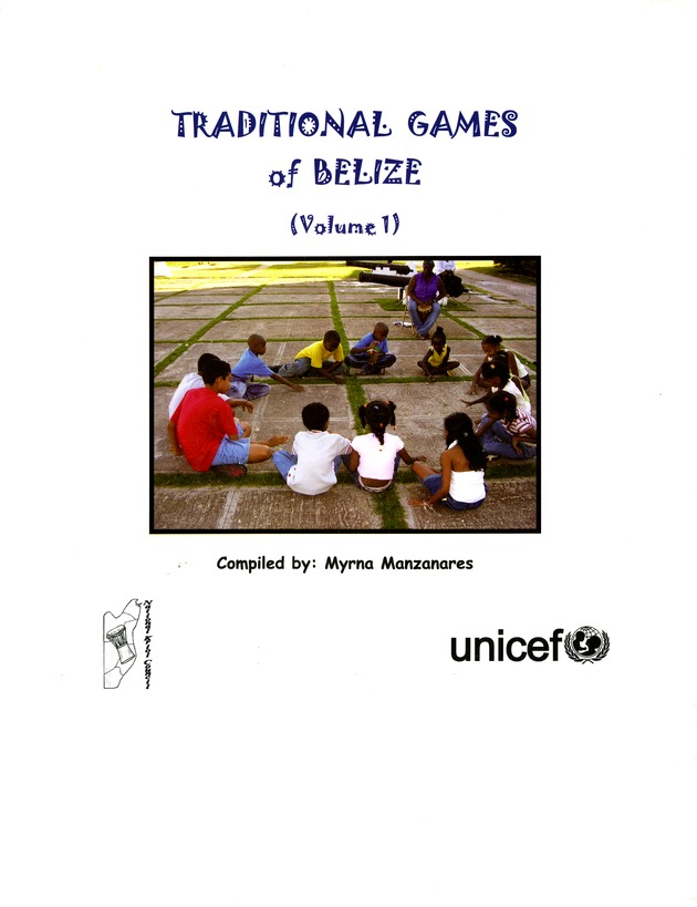 Traditional games of Belize  - Front Cover 1