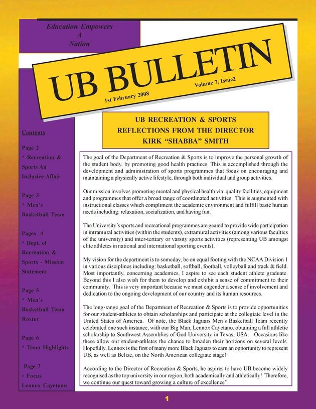 UB bulletin - Page 1