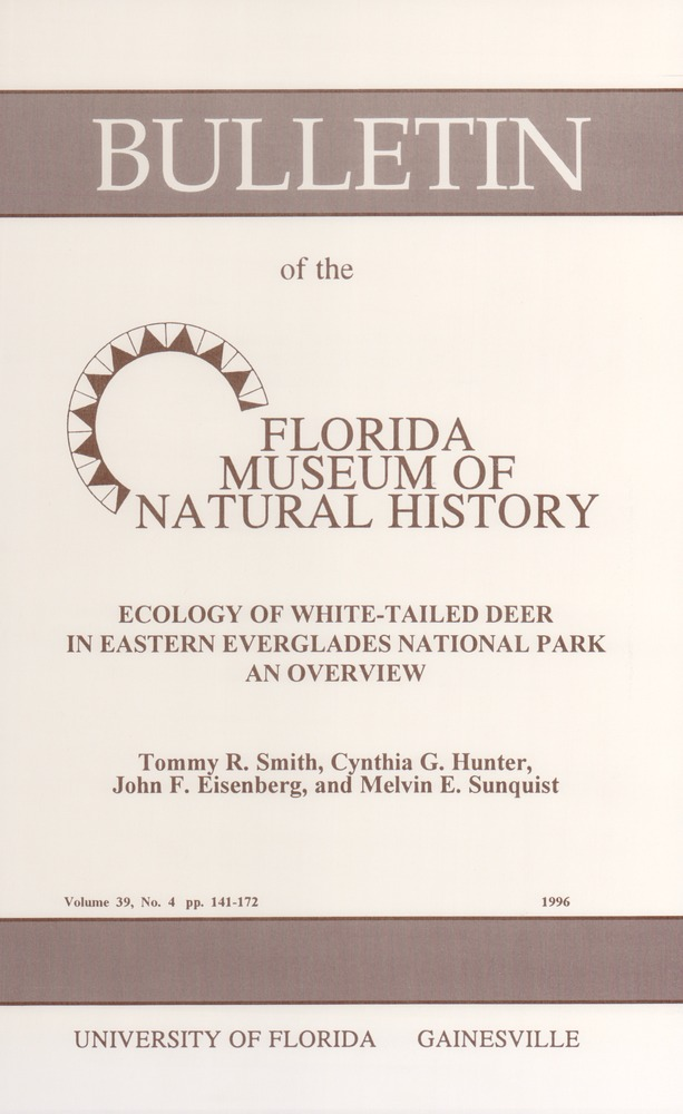 Ecology of white-tailed deer in eastern Everglades National Park - Page 139