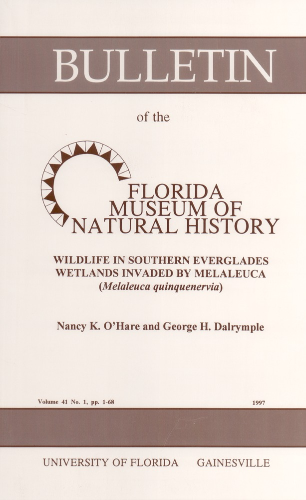 Wildlife in southern Everglades wetlands invaded by melaleuca (Melaleuca quinquenervia) - Page i
