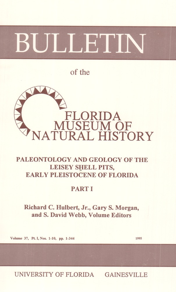 Paleontology and geology of the Leisey Shell Pits, early Pleistocene of Florida - Front cover