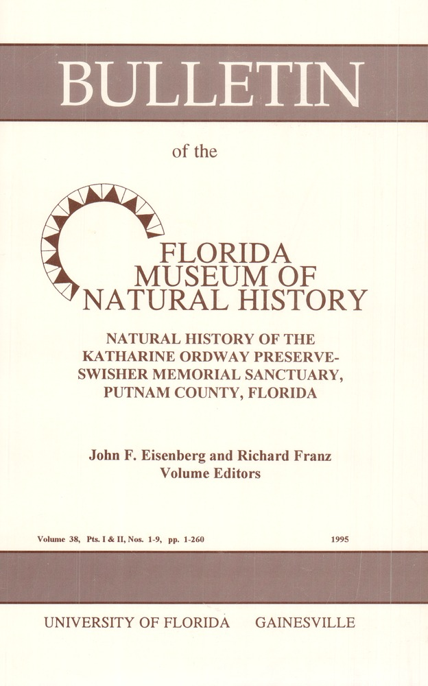 Natural history of the Katharine Ordway Preserve-Swisher Memorial Sanctuary, Putnam County, Florida - Front cover