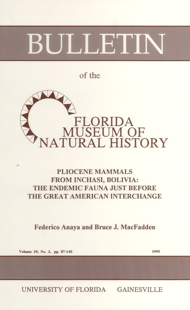 Pliocene mammals from Inchasi, Bolivia - Page 85