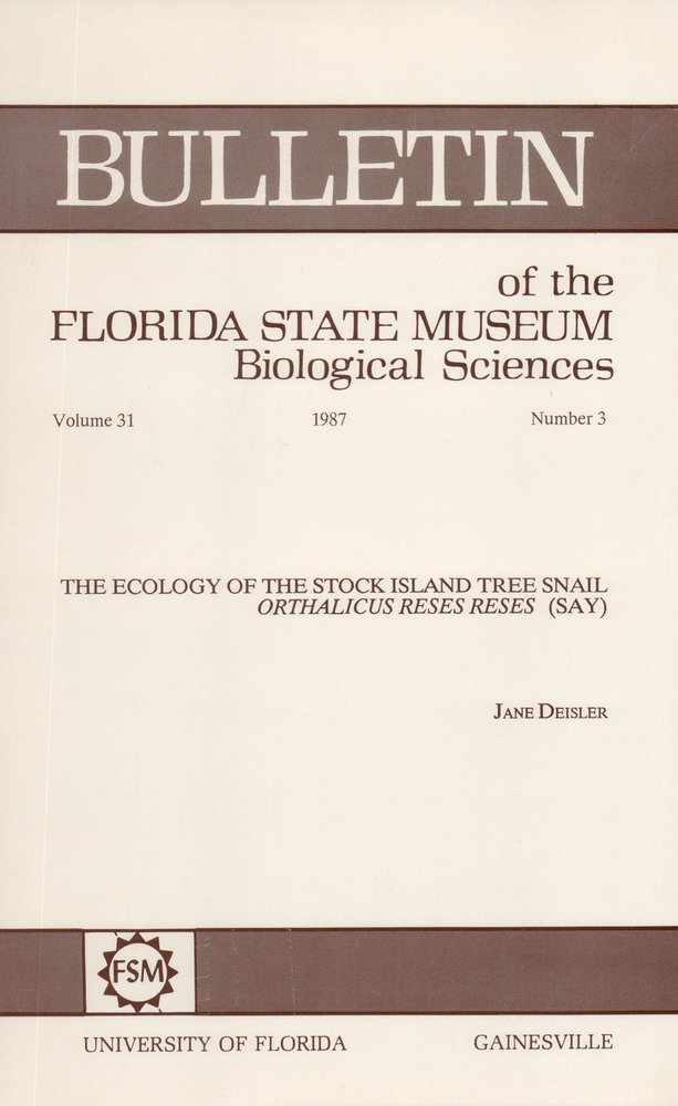 The Ecology of the Stock Island tree snail Orthalicus reses reses (Say) - Page 105