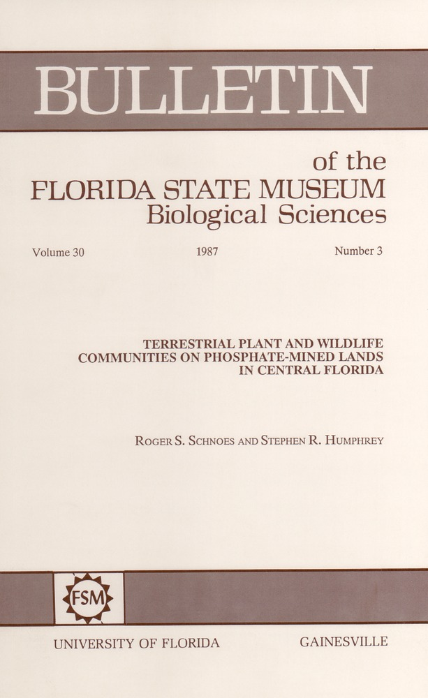 Terrestrial plant and wildlife communities on phosphate-mined lands in Central Florida - Page 51