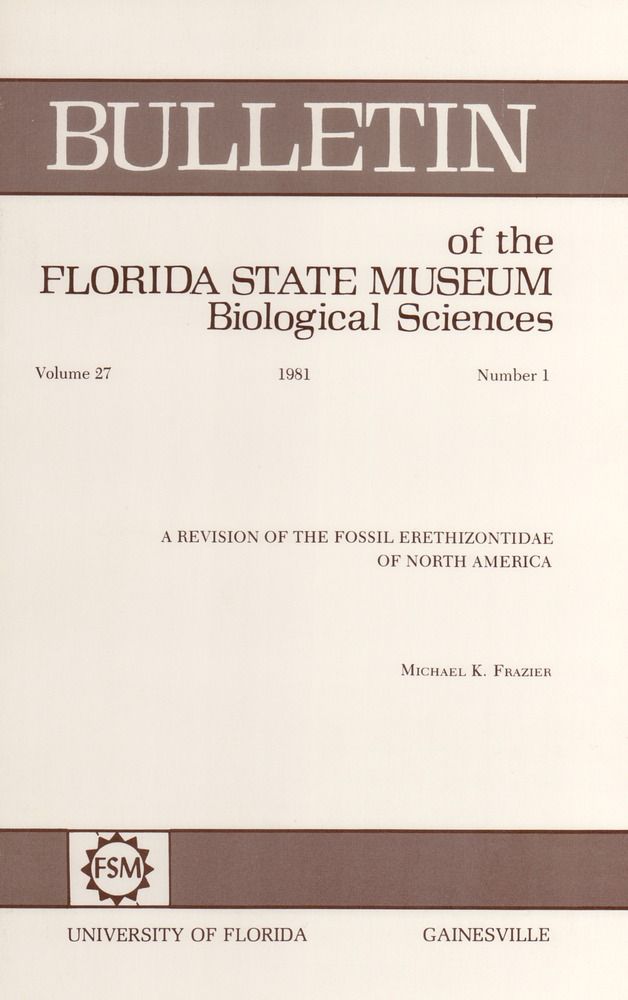 A Revision of the fossil Erethizontidae of North America - Front cover