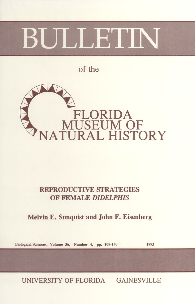 Reproductive strategies of female Didelphis - Page 107