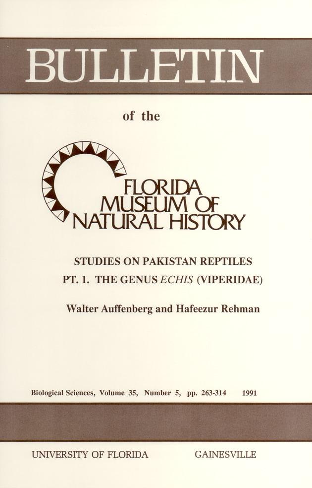 Studies on Pakistan reptiles, part 1 : the genus echus ( viperidae ) - Page 261