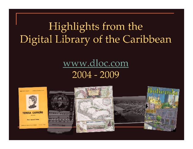 Higlights from the Digital Library of the Caribbean : Jamaica Journal Online - Page 1
