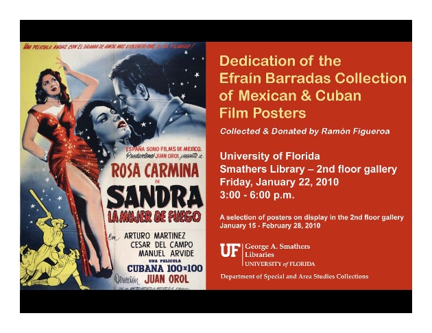 Dedication of the Efrain Barradas Collection of Mexican & Cuban Film Posters - Page 1