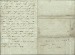 Mickler, Jacob E. to his Wife Sallie, October 12, 1860- Mary Louisa, Fernandina, Fla. (1 sheet, 4 leaves)