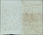Mickler, Jacob E. to his Wife Sallie, August 8, 1862- Near Chattanooga, Tenn. (1 sheet, 4 leaves)