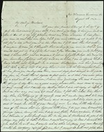 Mickler, Sallie to her Husband Jacob E., August 8, 1862- Mrs. Thomson's Suwannee Co., Fla. (1 sheet, 2 leaves)