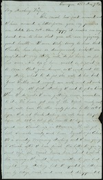 Mickler, Jacob E. to his Wife Sallie, December 7 ,1862- Tampa, Fla. (1 sheet, 2 leaves)