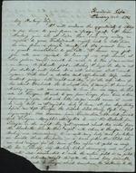 Mickler, Jacob E. to his Wife Sallie, January 22, 1863- Havana, Cuba (1 sheet, 3 leaves)