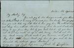 Mickler, Jacob E. to his Wife Sallie, April 24, [1863]- Baldwin, Fla. (1 sheet, 2 leaves)