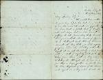 Mickler, Jacob E. to his Wife Sallie, July, 1863- Ocala, Fla. (1 sheet, 3 leaves)