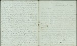 Hart, Catherine to Sister Lottie, September 14 & 17th, 1860- Tampa, Fla. (2 sheets, 8 leaves)