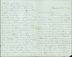 Hart, Catherine to Sister Lottie, November 30, 1860- Tampa, Fla. (2 sheets, 8 leaves)