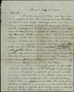 Campbell, Abner to Ossian Hart, June 30th, 1843- Newark (1 sheet, 2 leaves)