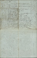 Hart, Ossian and Catherine Hart to Catherine's Parents, August 29th, 1847- Key West (1 sheet, 4 leaves)