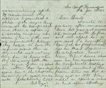 Rowley, John to his Parents, January 30, 1863- Fernandina, Fla. (1 sheet, 4 leaves)