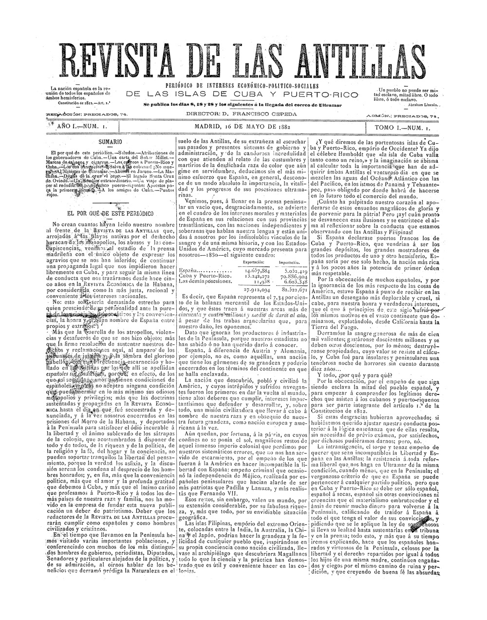 Revista de las Antillas - Page 1