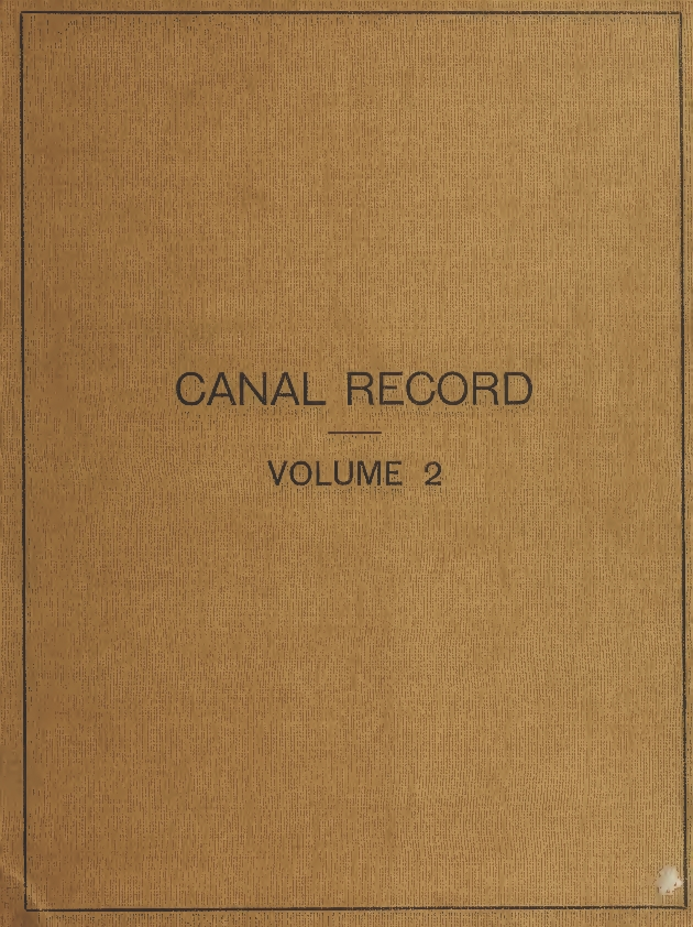 Panama Canal record - Front Cover 1