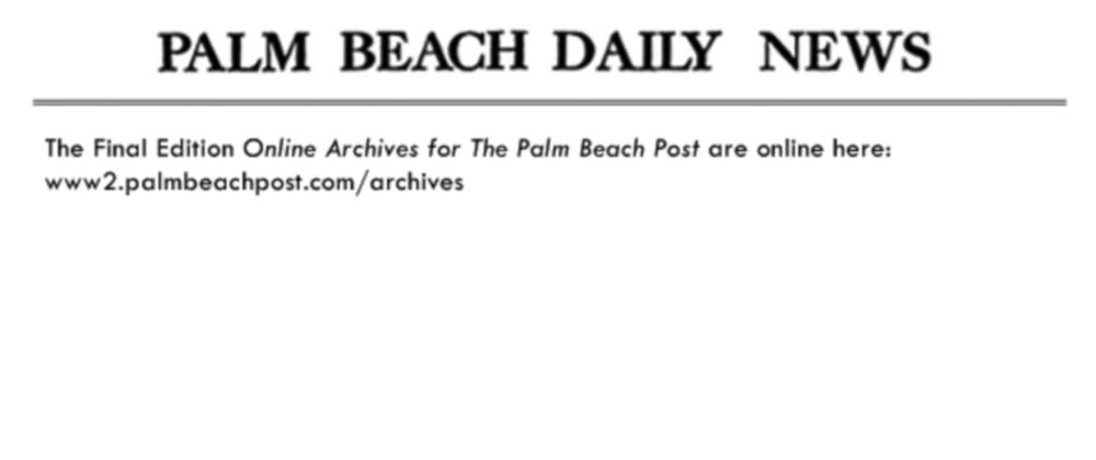The Daily Palm Beach news