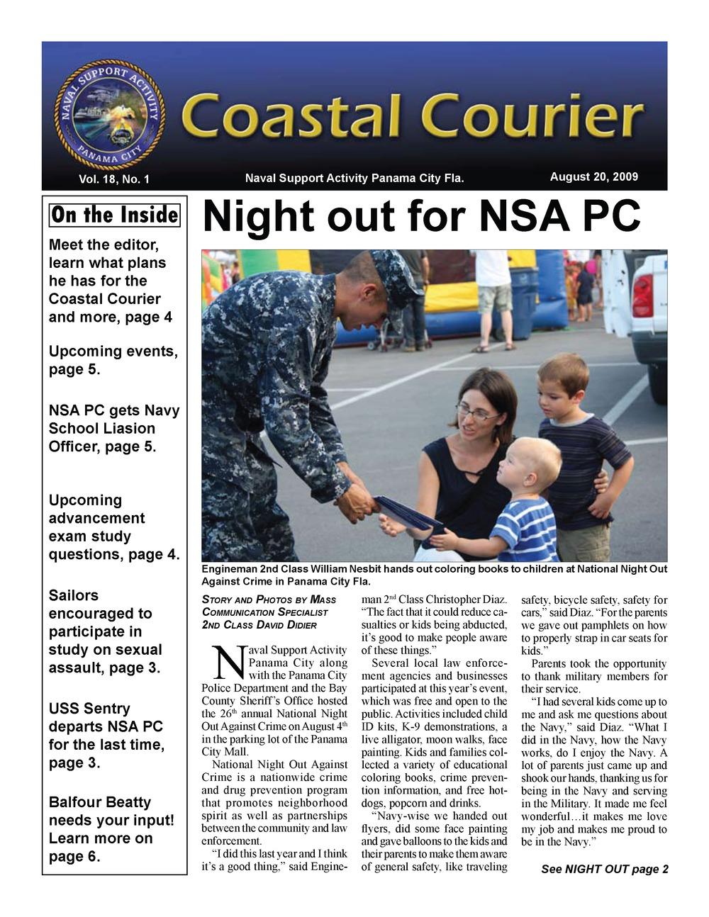 Coastal courier - Page 1
