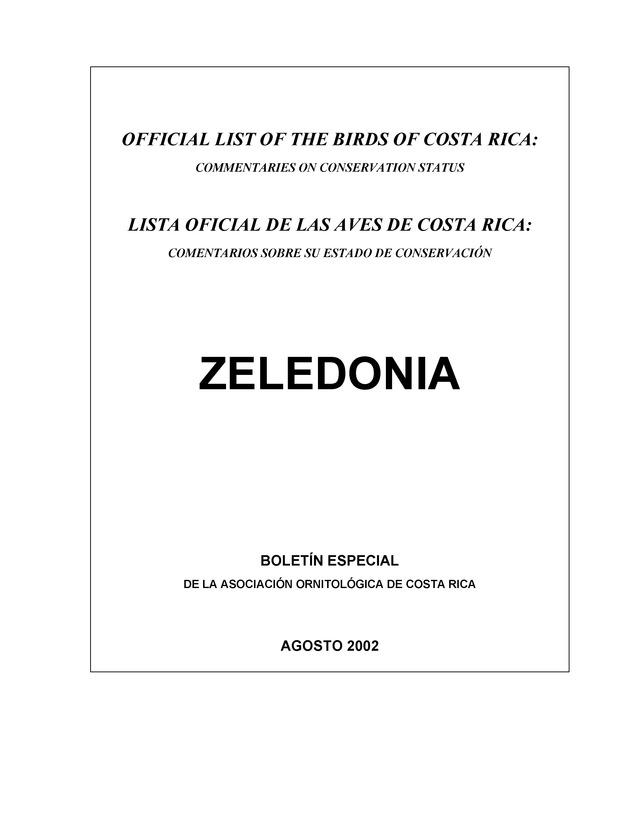 Zeledonia - Page 1