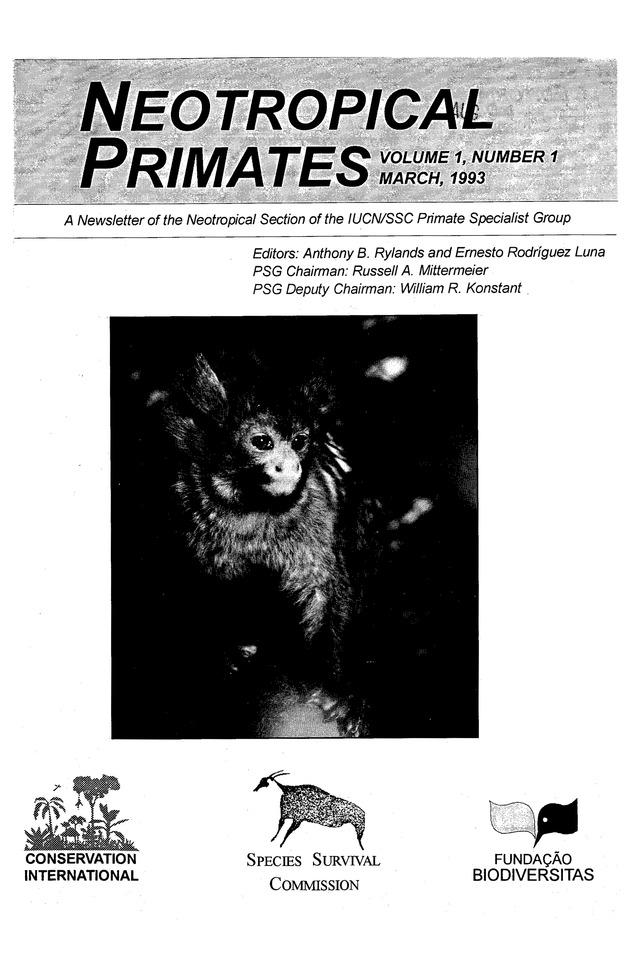 Neotropical primates - Front Cover