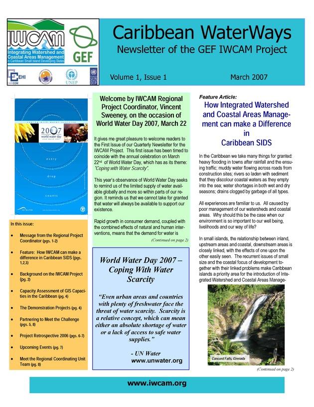 Caribbean WaterWays = Vias Fluviales Caribenas - Page 1