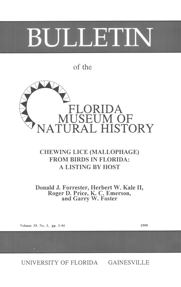 Chewing lice (Mallophaga) from birds in Florida - Front Cover