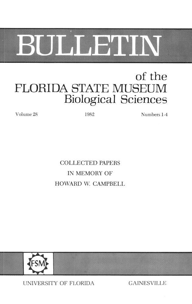 Collected papers in memory of Howard W. Campbell - Front Cover