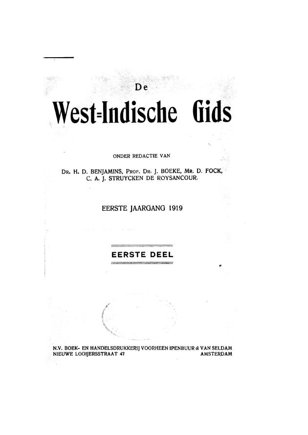 Nieuwe West-Indische gids - Front cover 1