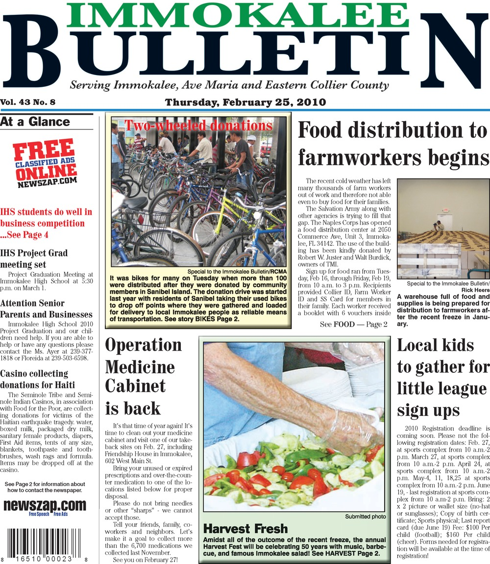 Immokalee bulletin - Page 1