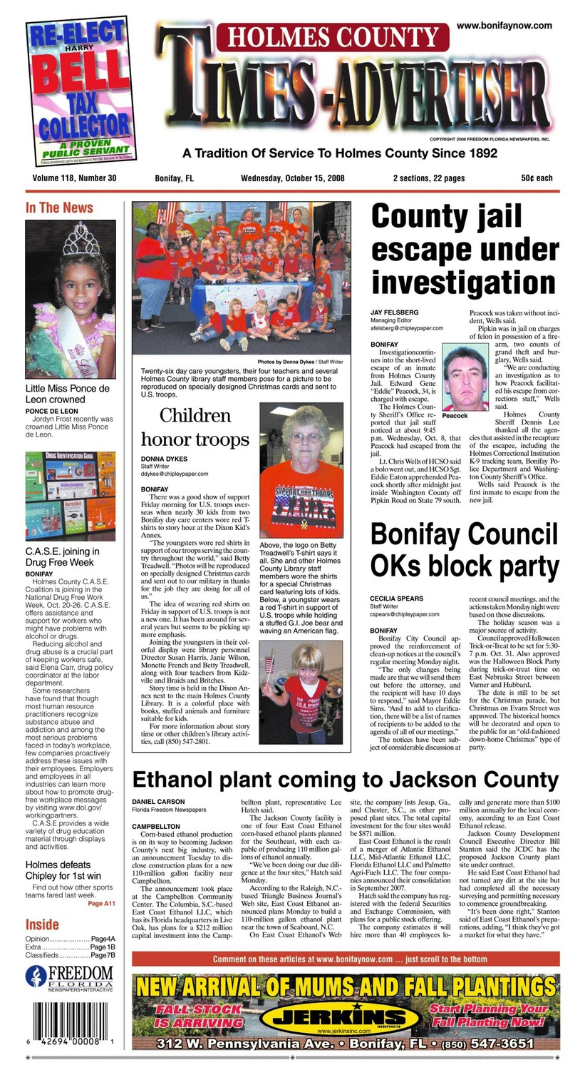 Holmes County times-advertiser - Page A 1