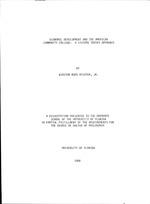 Economic development and the American community College