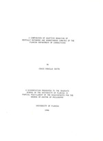A comparison of adaptive behavior of mentally retarded and nonretarded inmates of the Florida Department of Corrections