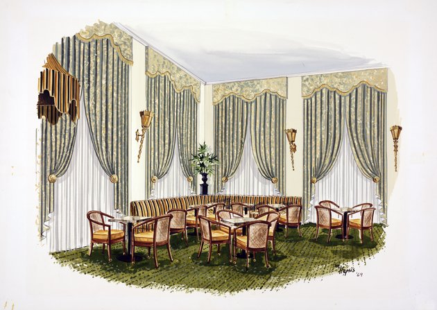 Design for the Starlight Lounge of the Breakers Hotel, Palm Beach, Florida