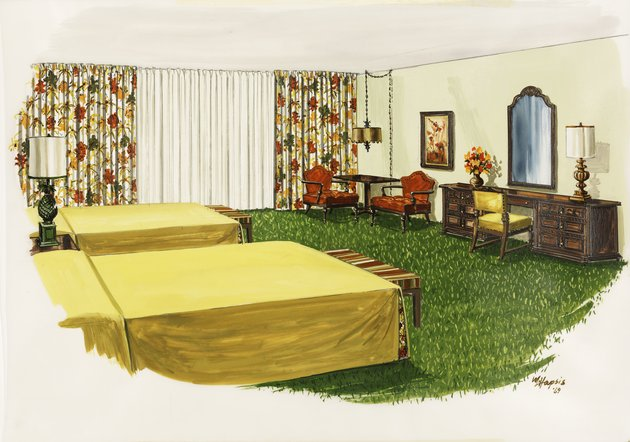 Design for a typical room (Scheme A) of the Breakers Hotel, Palm Beach, Florida