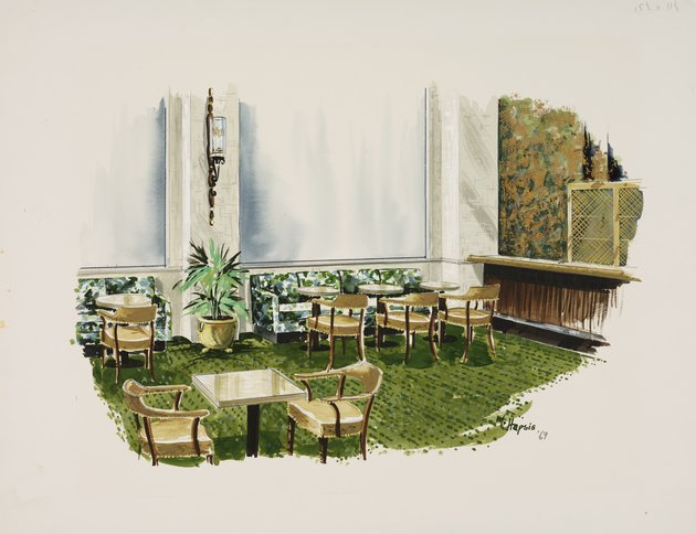 Design for the Starlight Bar of the Breakers Hotel, Palm Beach, Florida