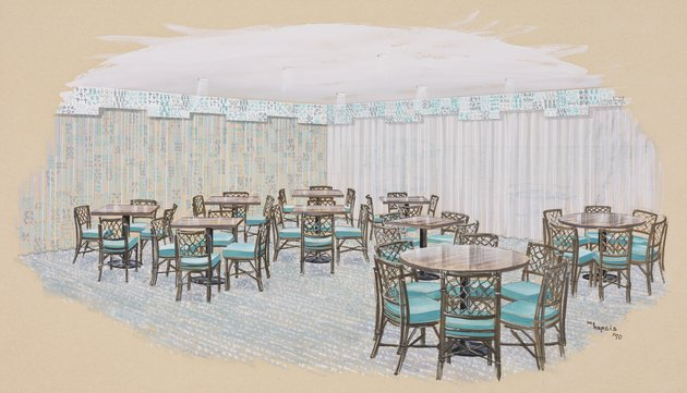 Design for Casino Dining of the Breakers Hotel, Palm Beach, Florida