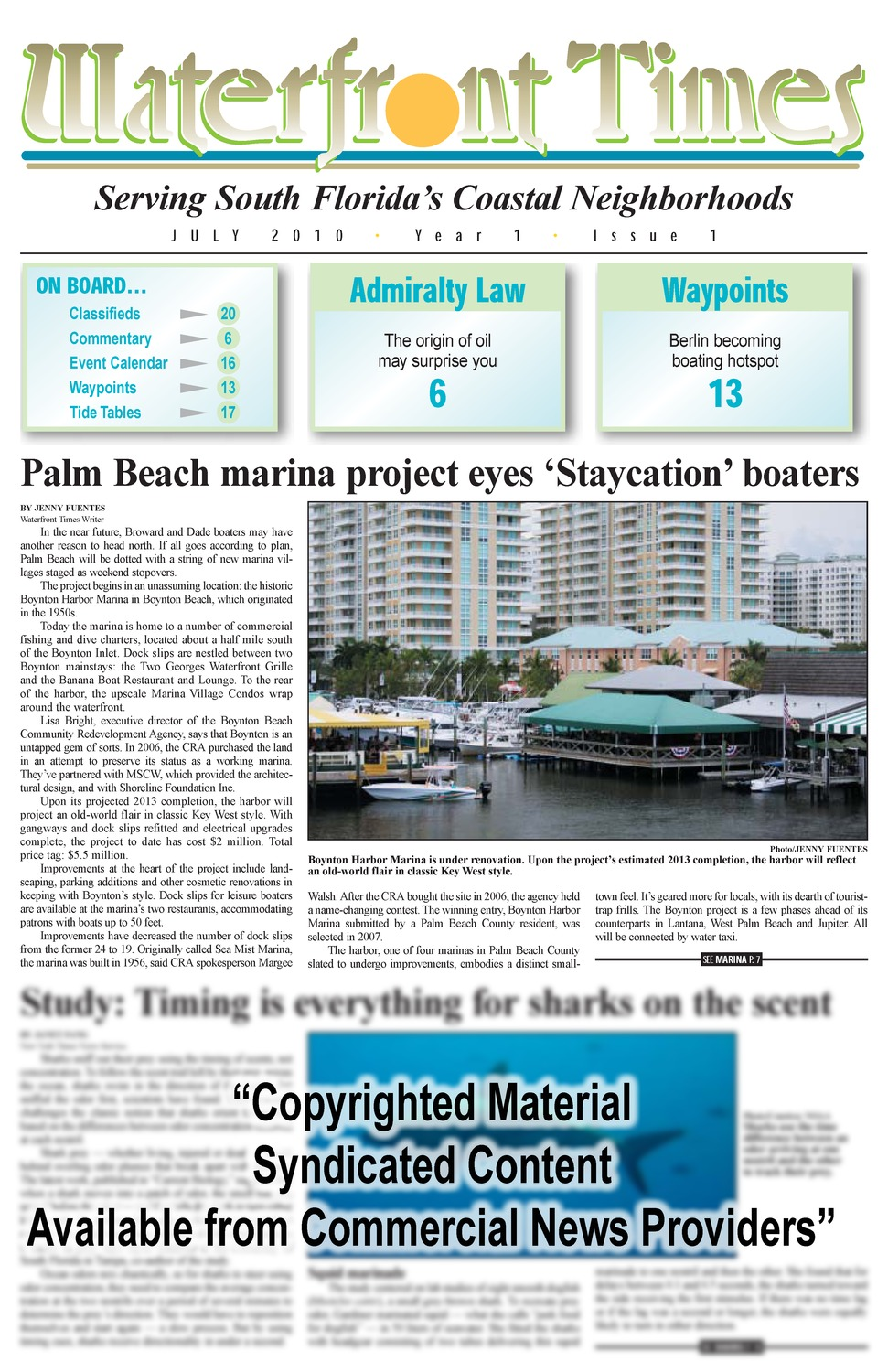 Waterfront times - Page 1