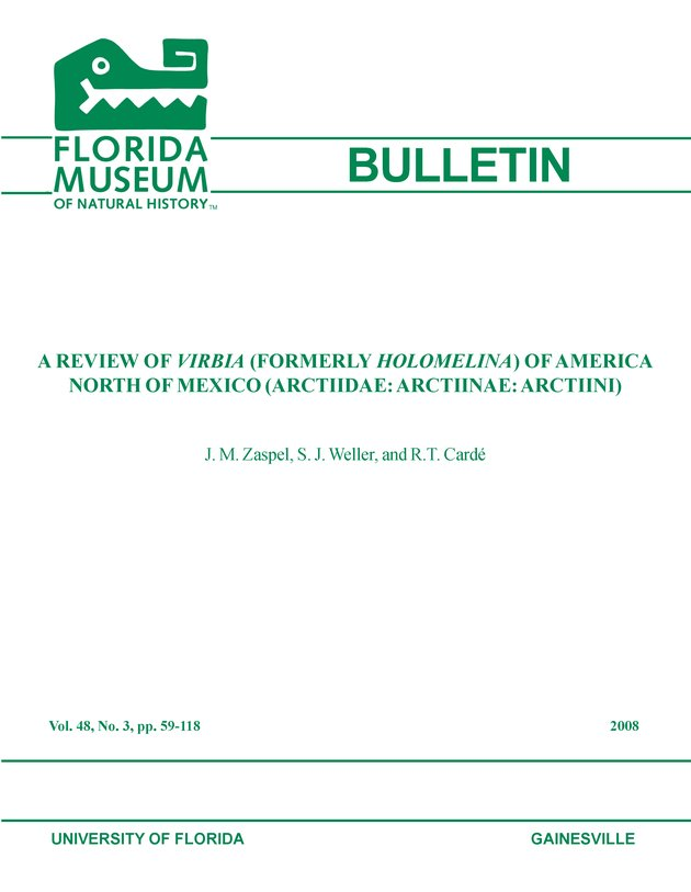 A review of Virbia (formerly Holomelina) of America north of Mexico (Arctiidae: Arctiinae: Arctiini) / - Front Cover